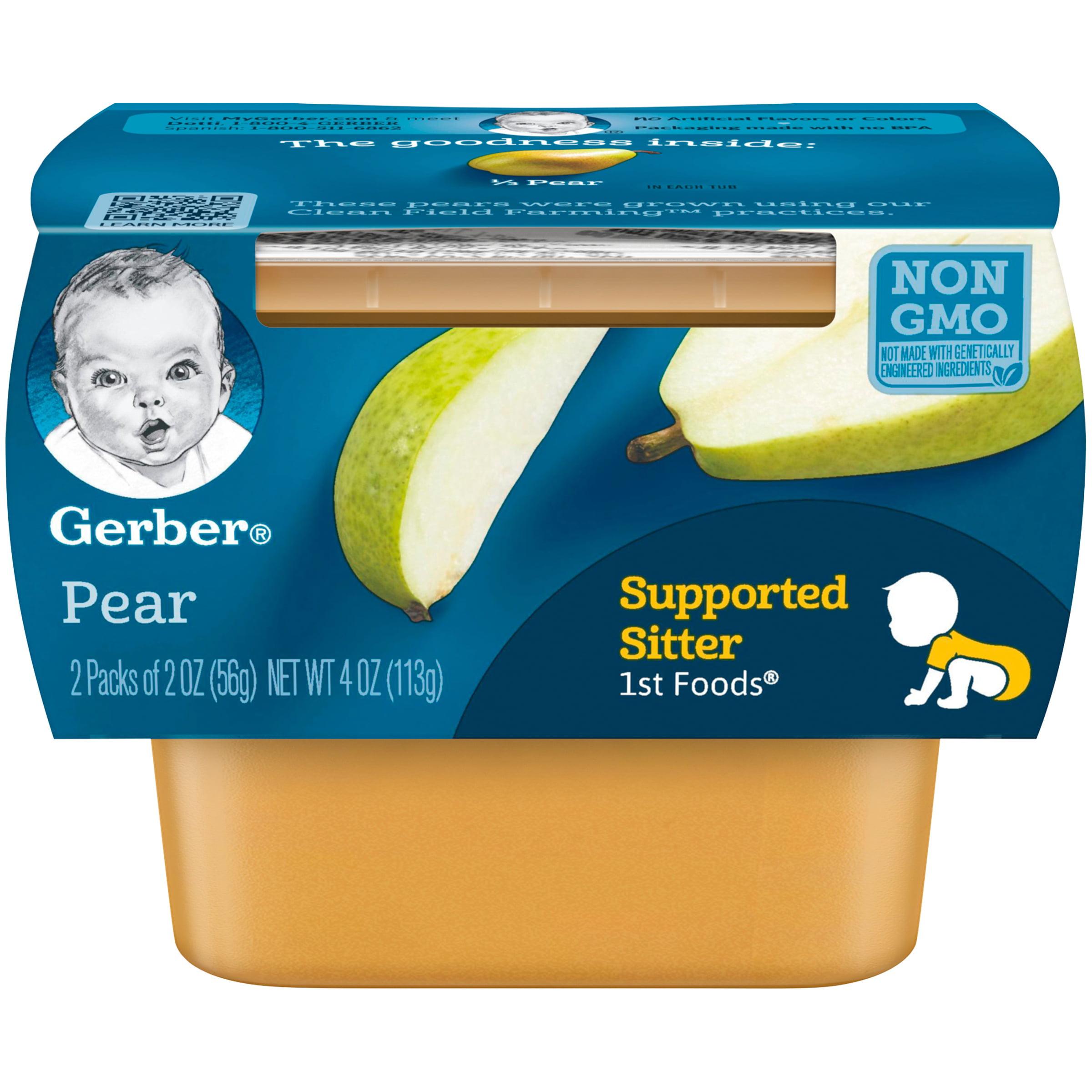 Gerber 1st Foods Pear Baby Food, 4 oz. (Pack of 8) by Gerber