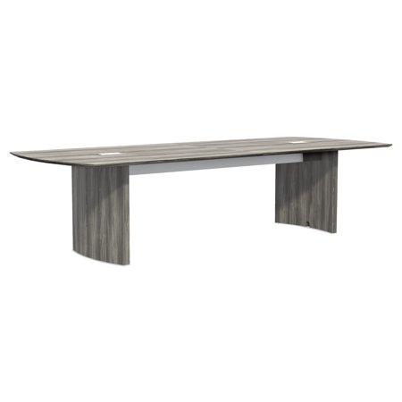 Mayline Medina Conference Tables, Boat, 120 x 48, Gray Steel