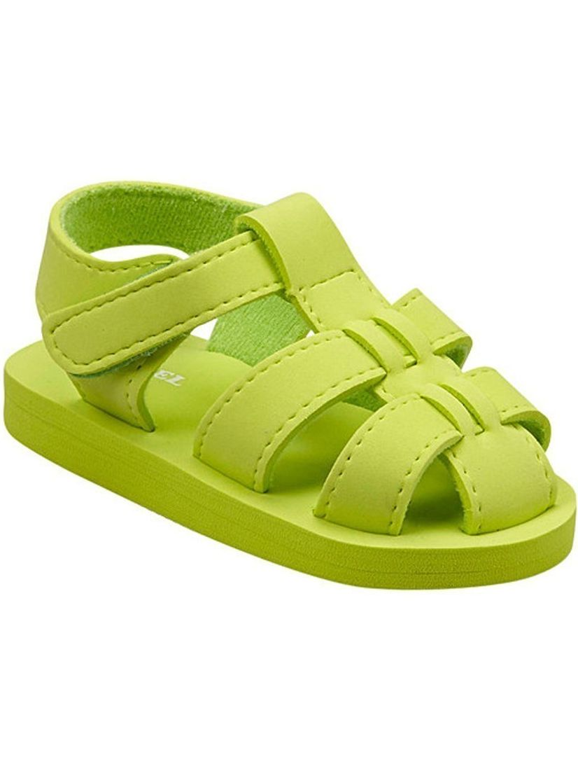 Angel Baby Girls Lime EVA Foam Fisherman Sandals 5-10 Toddler