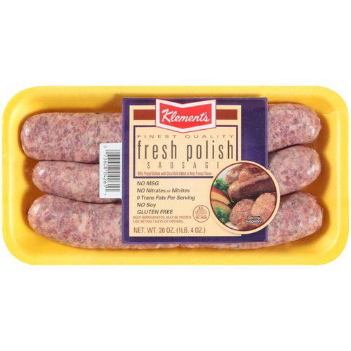Klement???s Fresh Polish Sausage, 6 count, 20 oz