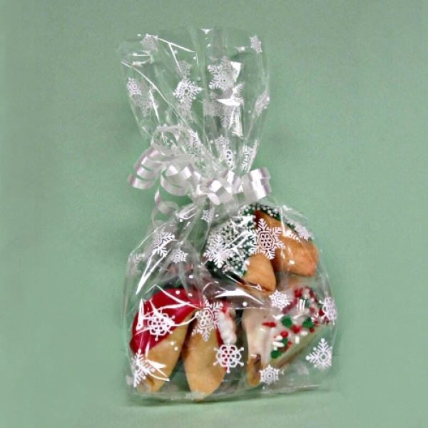 Christmas Fortune Cookies In Snowflake Bag