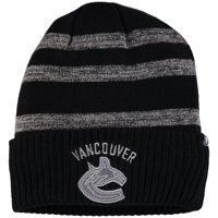 Vancouver Canucks Fanatics Branded Reflective Sneaker Cuffed Knit Hat - Black/Gray - OSFA
