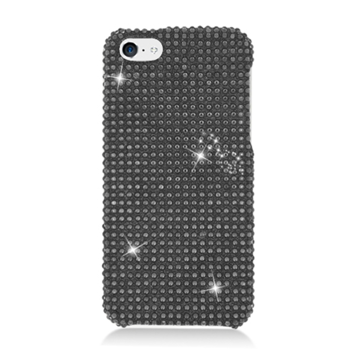 iPhone 5C Case, by Insten Rhinestone Diamond Bling Hard Snap-in Case Cover For Apple iPhone 5C