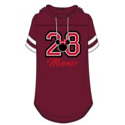 Disney Junior Fashion Hooded Football Tee 28 Minnie Burgundy Small