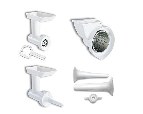 kitchenaid kgssa stand mixer attachment pack 2 with food grinder rotor slicer u0026amp shredder