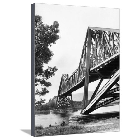 Connel Ferry Bridge Stretched Canvas Print Wall Art By Fred Musto