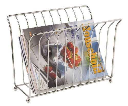 Magazine Rack, U-Shape, Chrome Magazine holder provides space for Magazines and other... by