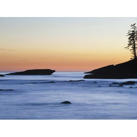 Rocky Coastline at Dusk, West Coast Trail, British Columbia, Canada. Print Wall Art By Ethan Welty ()