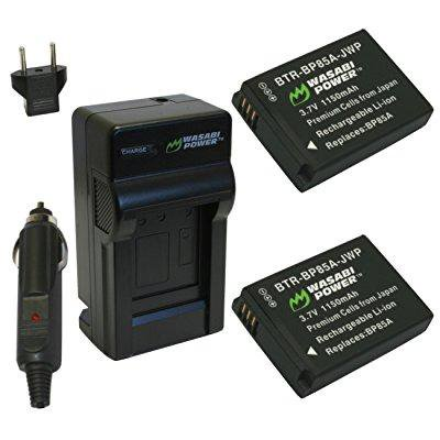 Wasabi Power Battery and Charger Kit for Samsung BP85A, EA-BP85A and Samsung PL210, SH100, ST200F, WB210 Camcorder Power Kit
