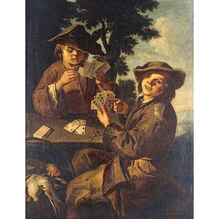 Two Peasant Boys Playing Cards Poster Print by Cipper Giacomo Francesco](Peasant Boy)