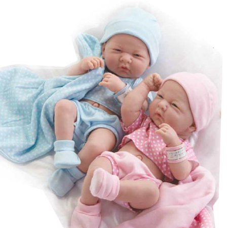 Real Newborn Baby Boy and Girl Twin Dolls - Walmart.com