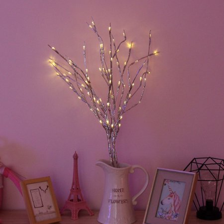 Natural Twig Heart - Moaere LED Natural Willow Twig Lighted Branch Battery Powered for Home Decoration