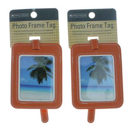 WM Set of 2 Protege Photo Frame Luggage Tags Suitcase ID Choose