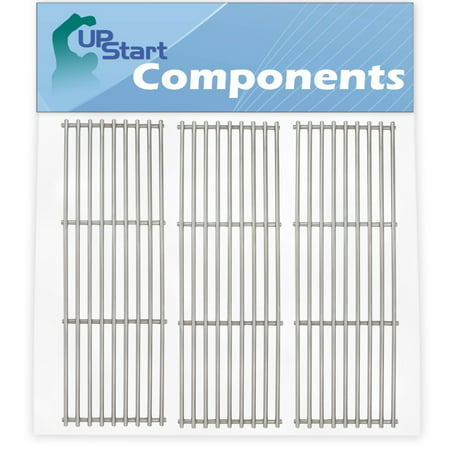 3-Pack BBQ Grill Cooking Grates Replacement Parts for Chargriller 2828 - Compatible Barbeque Stainless Steel Grid 19 - Stainless Steel Replacement Grate
