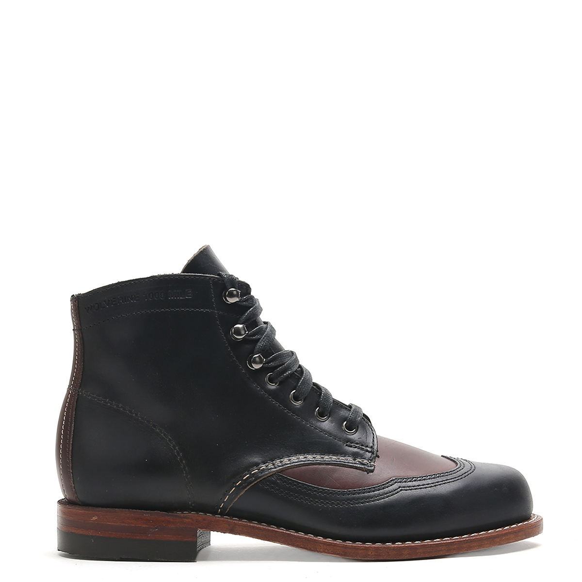 Wolverine Men's Addison 1000 Mile Boots W05947 Black Brown SZ 10.5 by