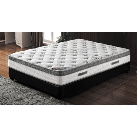 Euro Top Mattress - Milton Green 10 in. Pocketed Coil Mattress with Pillow Top