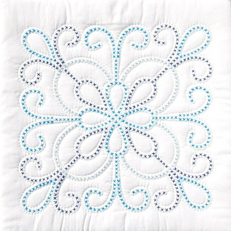 Jack Dempsey XX Design Stamped White Quilt Blocks, 18