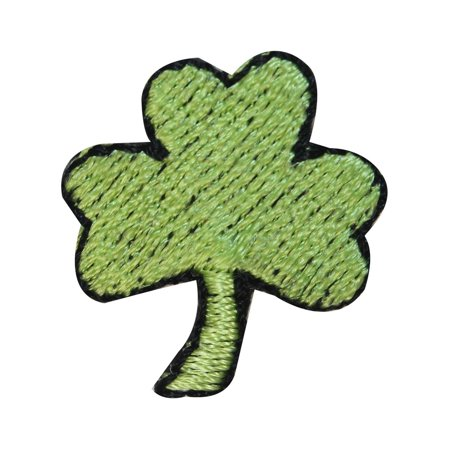 ID 3315 Lot of 3 Three Leaf Clover Patch St Patrick Embroidered Iron On Applique - St Patricks Crafts