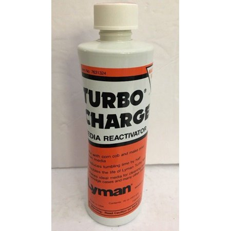 Lyman Reloading Turbo Charger Media Reactivator 16 oz Bottle-RARE-SHIPS N 24