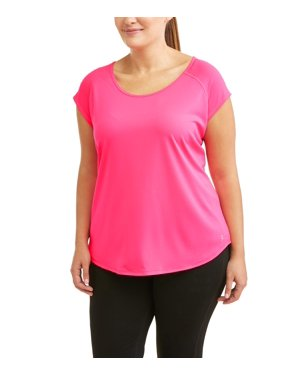 Women's Plus Mesh Tee with Keyhole Back