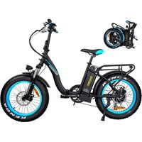 "Addmotor 20"" 750W 48V E-Ride Folding Electric Bike M-140 P7 Step-Thru Foldable Fat Tires Commuter E-bike for Adults"