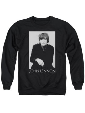 97a73cd9 Product Image JOHN LENNON/EX BEATLE-ADULT CREWNECK SWEATSHIRT-BLACK-SM
