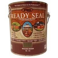 Ready Seal 7966237 1 gal Exterior Wood Stain & Sealer, Mission Brown