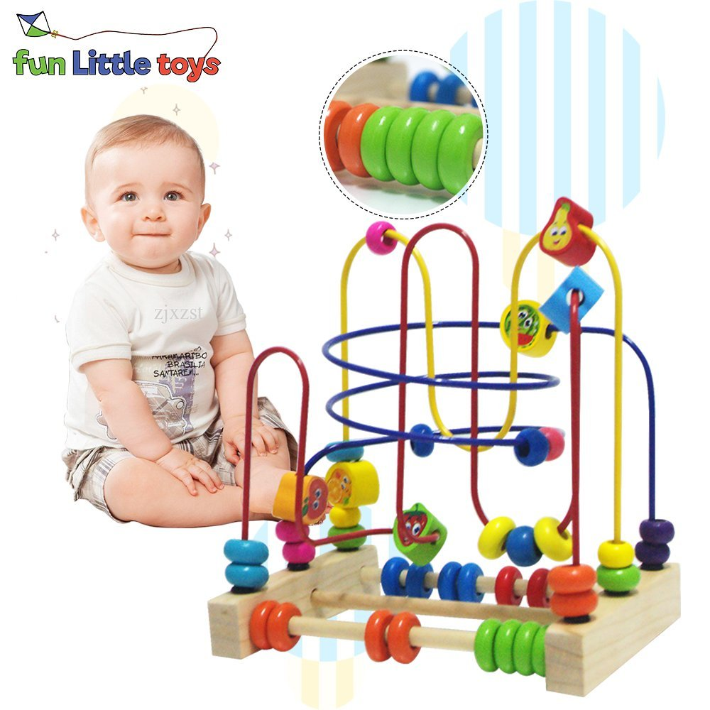 Friut Bead Maze Toy Around Circle Educational Skill Improvement Wood Toys for Kids Gift ,Educational 2 Year Olds F-06 - Walmart.com