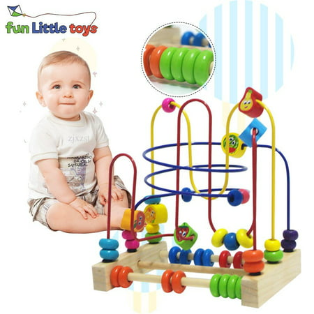 Friut Bead Maze Toy Around Circle Educational Skill Improvement Wood Toys for Kids Gift ,Educational Toys for 2 Year Olds - Unique Toys For 2 Year Olds