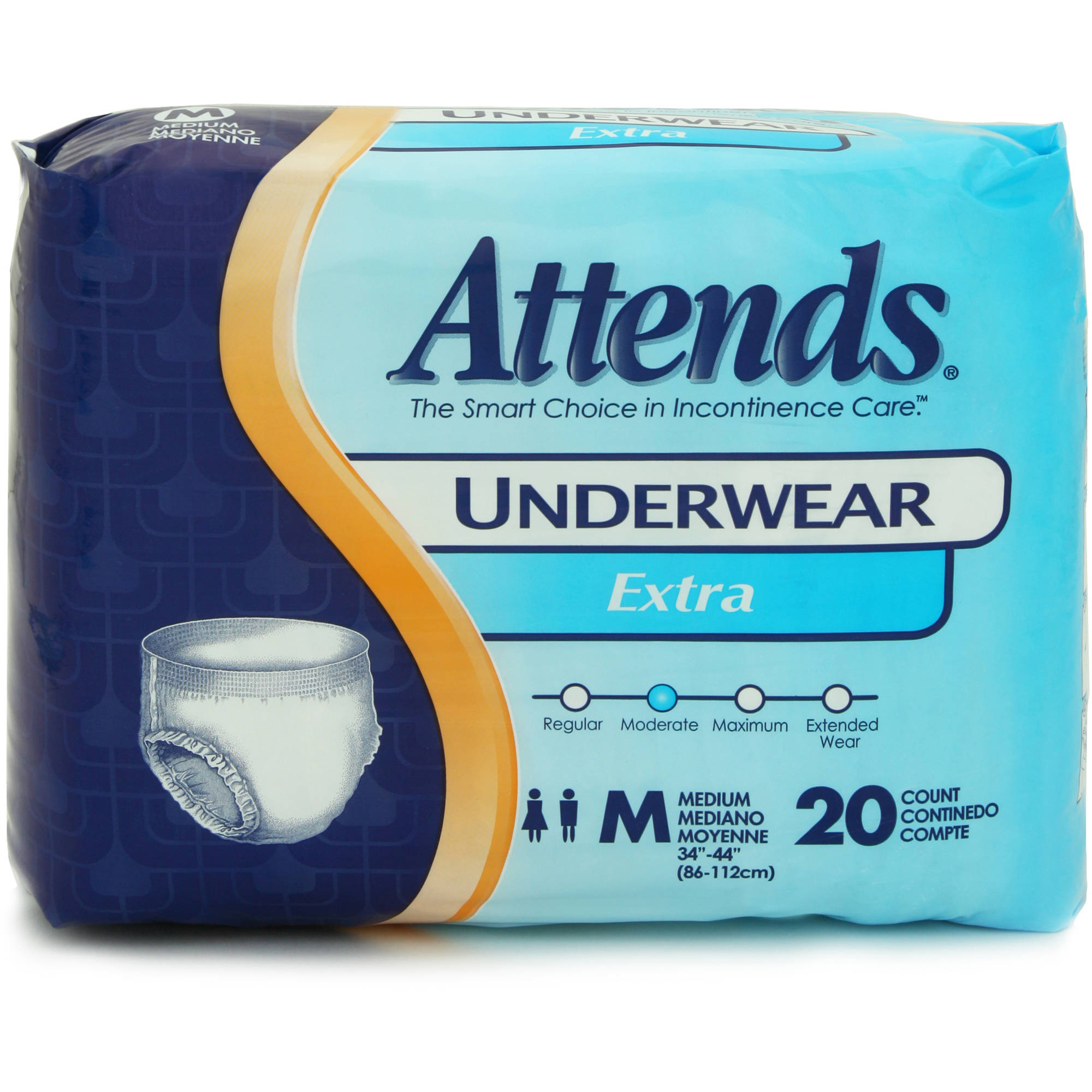 Attends Extra Absorbency Medium Protective Underwear, 20ct