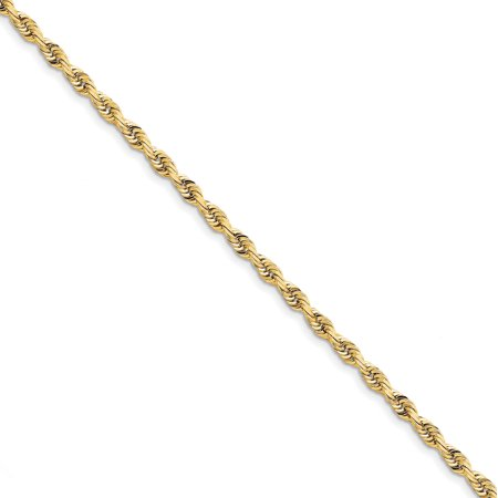 10K Yellow Gold 4.5mm Diamond Cut Quadruple Rope Chain Bracelet 8 Inch - image 2 of 2