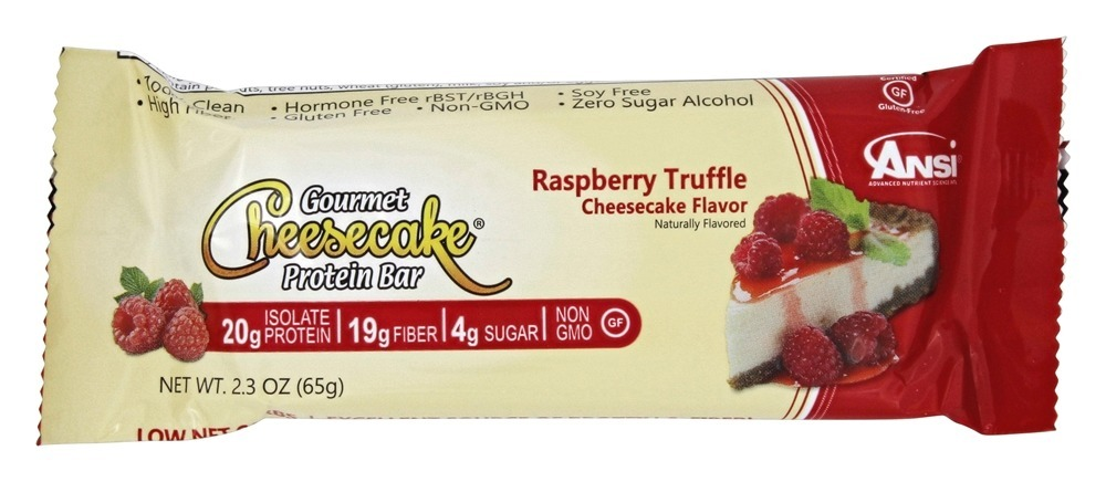 ANSI (Advanced Nutrient Science) Gourmet Cheesecake Protein Bar Raspberry Truffle... by ANSI
