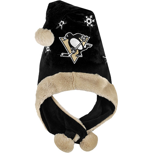 NHL Thematic Headwear Santa Hat, Pittsburgh Penguins
