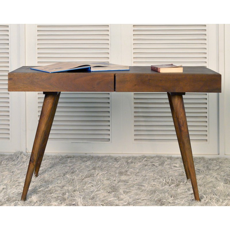 Coast to Coast 2 Drawer Writing Desk - Light Brown