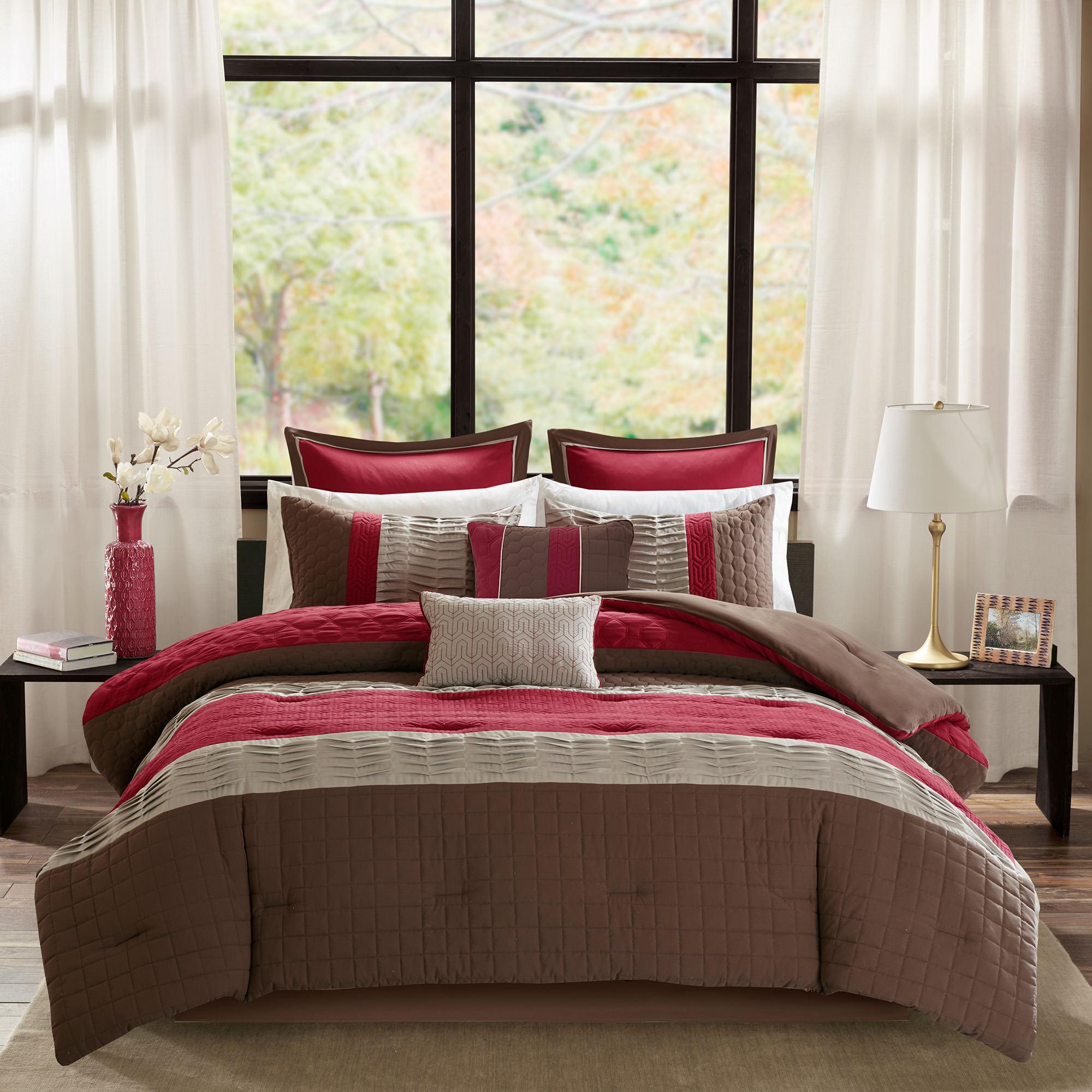 Home Essence Hayden 8 Piece Quilted Comforter Bedding Set