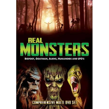 Real Monsters: Bigfoot, Goatman, Aliens, Humanoids & UFOs (DVD) (Bigfoot Costume Movie Quality)