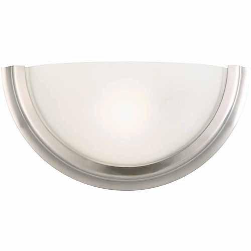 Design House 514562 Fairfax 1-Light Wall Sconce, Satin Nickel Finish