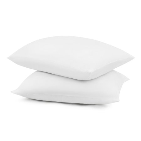 """Mainstays 100% Polyester Travel Pillow 14"""" x 20"""" in White, Set of 2"""