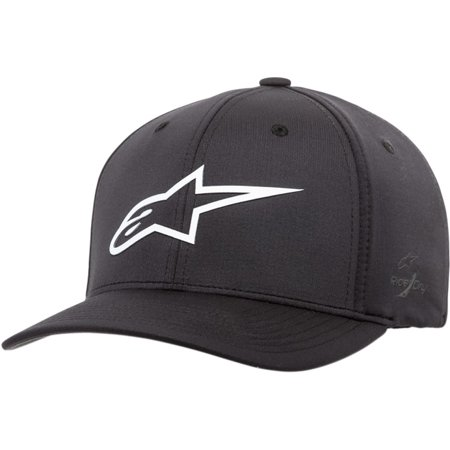 Alpinestars Hat (Alpinestars Ageless Sonic Tech Mens Flexfit Hat Black/White )