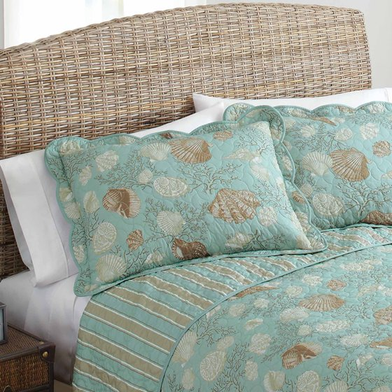 Better Homes And Gardens Coastal Shells Bedding Quilt Collection