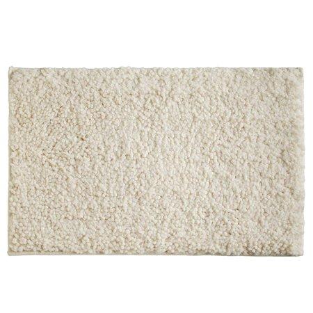 Cedar 20x30 Inch Ultra Soft & Plush Frieze Twist Microfiber Bath Mat, Absorbent Bathroom Floor Rug, Cream