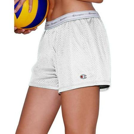 Women's Mesh Shorts, White - XS