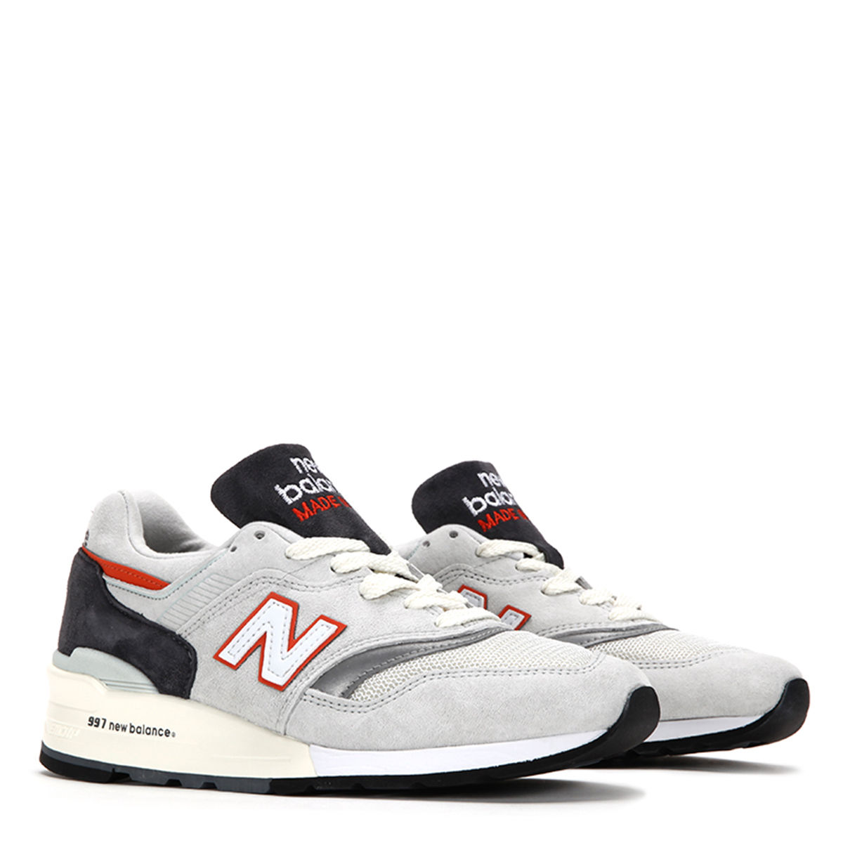 New Balance Men's 997 Made In USA Explore By Sea Sneakers M997CSEA WHT GRY ORNG by