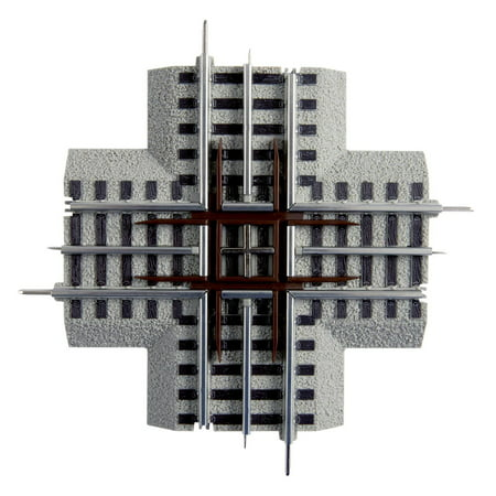 Lionel Trains O-Gauge Fastrack 90-Degree Crossover Intersection Track Piece