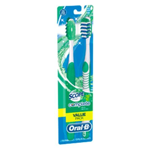 Oral-B Complete Fresh Scope Scented Medium Bristle Toothbrush, 2 Count