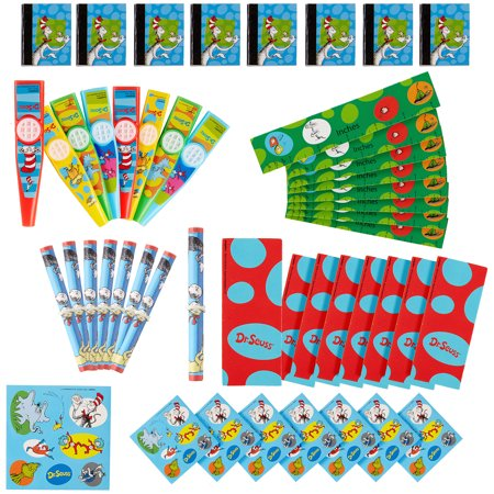 Dr. Seuss Party Favor Pack, 48 Pieces, Includes Kazoos, Sticker Sheets and (Stickers And More Warehouse Store)