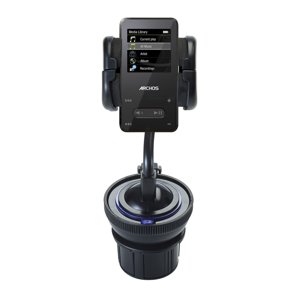 Unique Auto Cupholder and Suction Windshield Dual Purpose Mounting System for Archos 2   3 Flexible Holder System... by