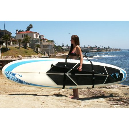 Better Surf than Sorry Big Board Schlepper Stand Up Paddleboard Easy Carry Strap SUP Shoulder Sling Board (Best Way To Bag Up Leaves)