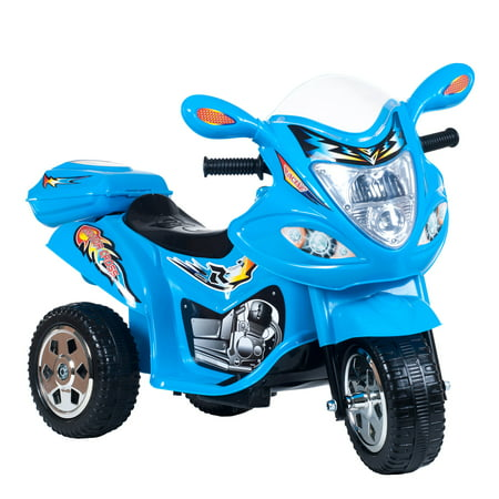 Ride On Toy  3 Wheel Trike Motorcycle For Kids  Battery Powered Ride On Toy By Lil  Rider   Ride On Toys For Boys And Girls  2   5 Year Old   Blue