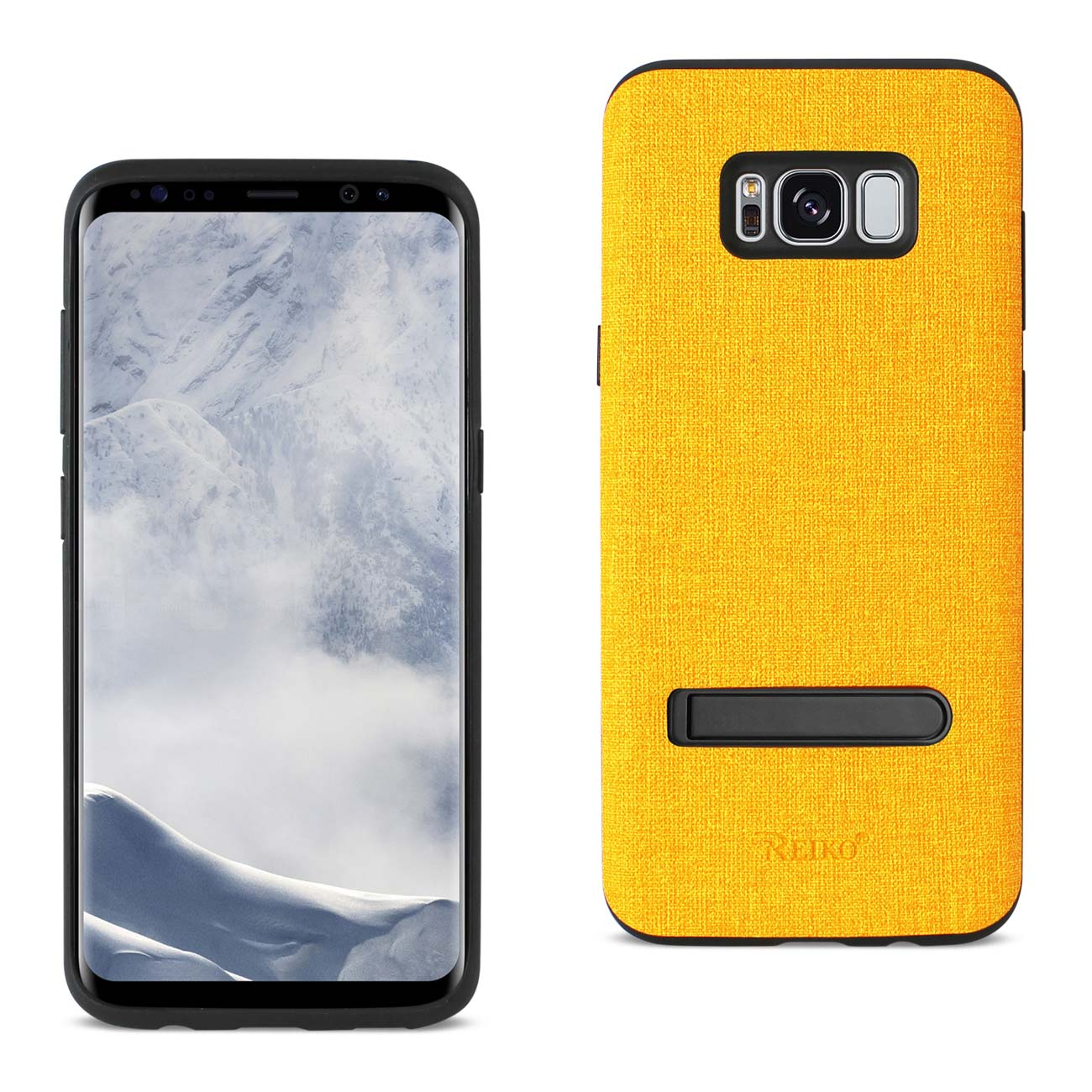 REIKO SAMSUNG GALAXY S8/ SM DENIM TEXTURE TPU PROTECTOR COVER IN YELLOW